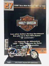 "moto miniature harley davidson dyna-glide daytona ""50th"" 1992 1/18 n27/50 fascic"