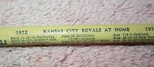 Vtg 1972 Kansas City Royals Baseball Home Schedule Pencil - Mid-Continent LP