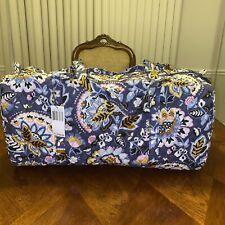 Vera Bradley Charmont Meadow Large Traveler Duffel Weekend Bag