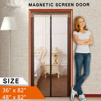 Magnetic Screen Door Anti Mosquito Insect Fly Screen Net Window Mesh Brown