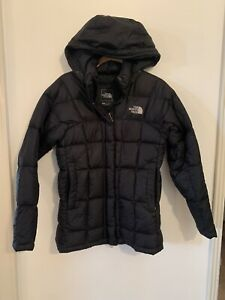 The North Face TNF Women's Black Full Zip Puffer 600 Down Jacket Size XS