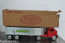 Vintage MOUND METALCRAFT TONKA TOYS #550 Grain Hauler Semi Truck w/ Original Box