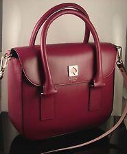 Kate Spade New Bond Street Flo Red Plum Leather Satchel Shoulder Bag MSRP448 NWT
