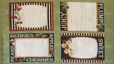 From The Market 4 Placemat Summer Fruit Wilmington Fabric Panel SALE 35% OFF