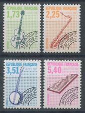 FRANCE 1992  PREOBLITERES N°224/227**, Instruments de Musique, TTB, MNH