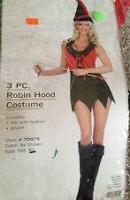 Sexy Halloween Costume Robin Hood Hero Womens Medium Large 3 Robinhood  Green
