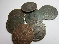 (1) 1800's Large Cent // Fair/AG - Good //  Bust - Classic - Coronet - Braided