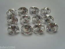 two,8x6mm oval cubic zirconia white/clear loose gemstones for £1.