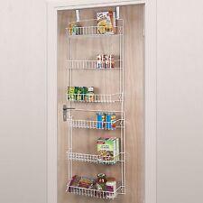 Over The Door Storage Rack 6 Shelves Kitchen Pantry Food Spice Hanging Organizer