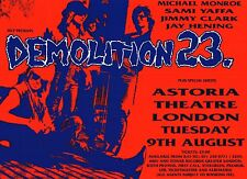 "TOUR POSTER~Demolition 23 1994 London Michael Monroe of Hanoi Rocks 30x40""~NOS"