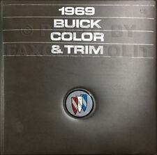 1969 Buick Color Upholstery Dealer Album GS Riviera Special LeSabre Skylark Etc.