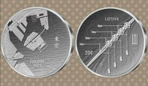 Lithuania 2021 20 euro coin dedicated to the XXXIInd Olympic Games in Tokyo