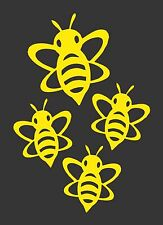 Flying Bumble Bee Yellow - Die Cut Vinyl Window Decal/Sticker for Car/Truck