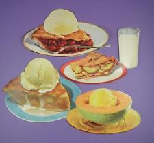 Original 1950s American Diner Paper Die Cut Signs - Various Desserts