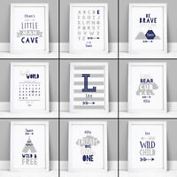 Personalised Nursery Art Prints Pictures for Baby Toddler Boys Bedroom Decor