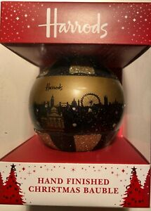 HARRODS CHRISTMAS BAUBLE GOLD BUILDING 2011 UNOPENED
