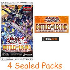 Yu-Gi-Oh TCG: Battles Of Legend Relentless Revenge: 4 Sealed Booster Packs Cards