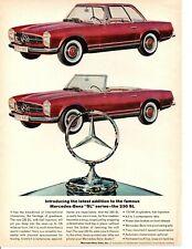 1964 MERCEDES-BENZ  230 SL  ~  CLASSIC ORIGINAL PRINT AD