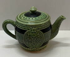 """New listing Vintage Green Ceramic Pottery Tea Pot Made in Japan 4"""""""