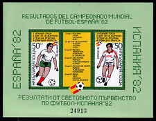 Bulgarien Bl. 127 **, Ergebnisse der Fußball-Weltmeisterschaft 1982