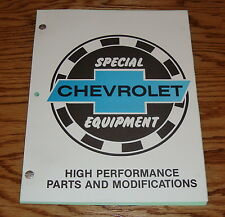 1970 1971 1972 Chevrolet High Performance Parts & Modifications Manual 70 71 72