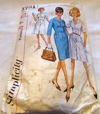 Vintage Original 60's Ladies Dresses Simplicity Sewing Pattern Size 16 Cut