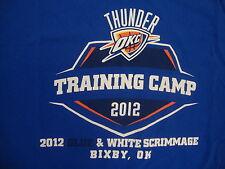 NBA Oklahoma City Thunder National Basketball Fan Training Camp 2012 T Shirt XL