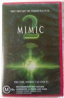 Mimic 2 VHS 2001 Sci-Fi Horror Jean de Segonzac Buena Vista Large Case Release
