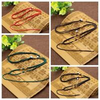 5 Pcs Handmade Braided Line Rope String Cord Jade Beads for Pendant Necklace