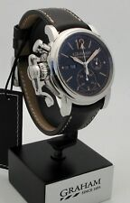 Graham Chronofighter Vintage Black Dial Brown Calfskin 2CVAS.B01A.L126S