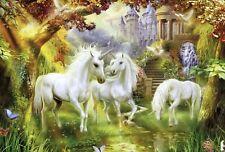 Unframed Photo Canvas Print Poster Picture 3 Unicorns Childrens Room Fantasy