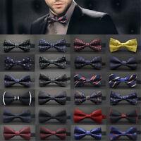Wedding Ties Adjustable Satin Men Tuxedo Classic Party Novelty Bow Tie Necktie