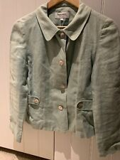 Ladies Wealth Of Nations By Judy French Green Linen Jacket Size 10