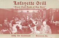 Brunswick Georgia~Lafayette Grill~New York Manner~Patrons~Waitress~1950s B&W PC
