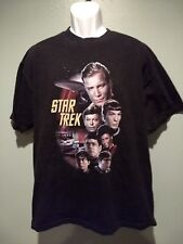 Star Trek Cast Kirk,Spock, Sulu,Mccoy,Checkov,Uhura,Scotty T-Shirt Large