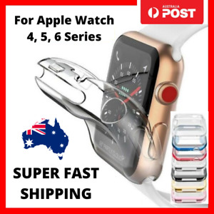 For Apple Watch iWatch Series SE 6 5 4 Clear Case Full Cover 40mm 44mm Fast Post