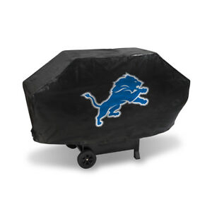 Detroit Lions DELUXE Heavy Duty BBQ Barbeque Grill Cover