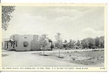 Postcard - Uncirculated - Del Camino Courts - El Paso TX