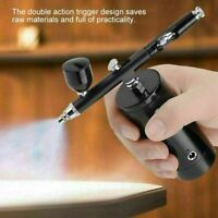 Mini Compressor Airbrush Kit 0.3mm 7cc Capacity Spray Tattoo Nail Art Paint Gun
