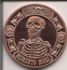 "1 Fine Copper Round ""Memento Mori"" From Anonymous Mint 1 Oz."