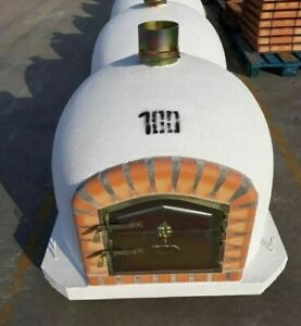 Brick Outdoor Wood Fired Pizza Oven - White Deluxe Quality BBQ Various sizes