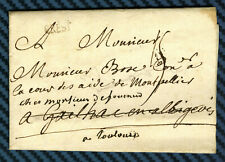 -= Lettre de BREST (Bretagne) pour CETTE (Languedoc) - 1756 =-
