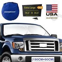 X-Large Foldable Truck Van Suv Mpv Car Sun Shade Windshield Visor Block Cover