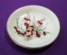 Vintage miniature BORONIA PLATE Hand painted E.M.Bailey Perth - Gold Gilt