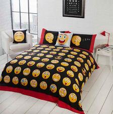 Simple Réversible Noir Blanc Emoji smiley rouge jaune LITERIE émotions