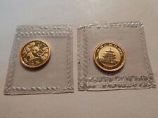 1992 CHINA 1/20 OZ .999 GOLD PANDA BETTER DATE IN ORIGINAL SEALED PLASTIC