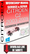 Service Workshop Manual & Repair CITROEN C2 2003-2009 +WIRING   FOR DOWNLOAD