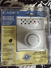 Cadet Btf2W Mechanical Baseboard Double Pole Thermostat New in Pack