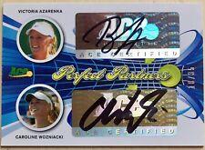 2013 Ace Authentic WOZNIACKI / AZARENKA /35 Auto Perfect Partners Dual Autograph
