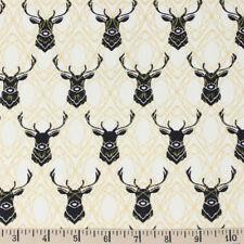 Elk Diamonds in Black/Metallic by Birch organic cotton 112cm x 25cm